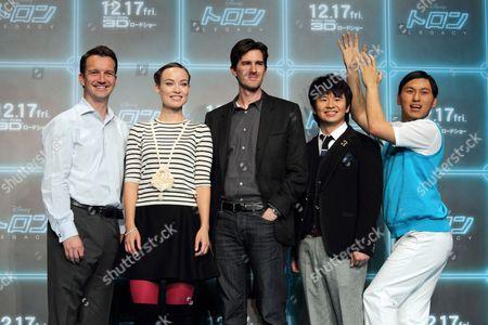 Stock Photo of Producer Sean Bailey, Olivia Wilde and Director Joseph Korinski