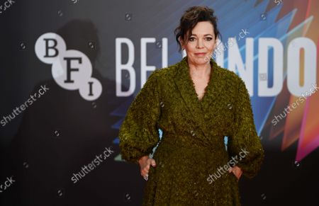 British actress and cast-member Olivia Coleman attends the screening of 'The Lost Daughter' during the BFI London Film Festival at the Royal Festival Hall in London, Britain, 13 October 2021. The British Film Institute festival runs from 06 to 17 October.