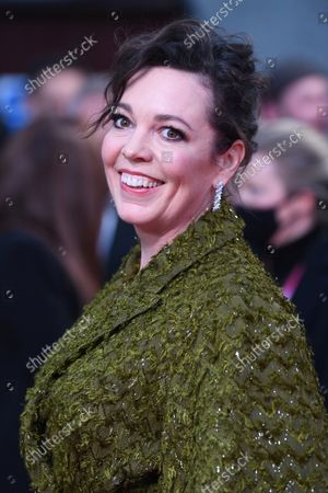 British actress Olivia Coleman attends the premiere of The Lost Daughter at the 65th BFI London Film Festival on October 13, 2021.