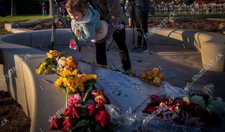Editorial picture of The families of victims of Scott Dekraai, the worst mass killer in Orange County history, hold a memorial for the eight people killed on the 10th anniversary of the massacre, Seal Beach, California, United States - 12 Oct 2021