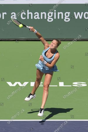 Shelby Rogers (USA) defeated Leylah Fernandez (CAN) 2-6, 6-1, 7-6 (6-4), at the BNP Paribas Open being played at Indian Wells Tennis Garden in Indian Wells, California on ©Karla Kinne/Tennisclix/CSM
