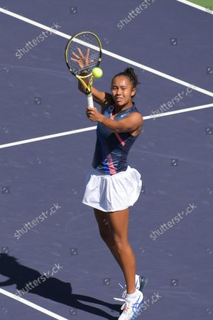 Leylah Fernandez (CAN) is defeated by Shelby Rogers (USA) 6-2, 1-6, 6-7 (4-6), at the BNP Paribas Open being played at Indian Wells Tennis Garden in Indian Wells, California on ©Karla Kinne/Tennisclix/CSM