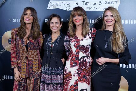 Vanesa Romero, Toni Acosta, Sara Carbonero and Isabel Jimenez seen at the new collection 'Slow Love: Dancing In The Street'