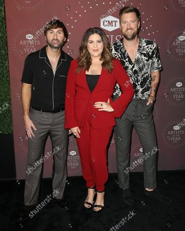 Stock Photo of Dave Haywood and Hillary Scott and Charles Kelley of Lady A