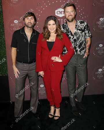 Dave Haywood and Hillary Scott and Charles Kelley of Lady A