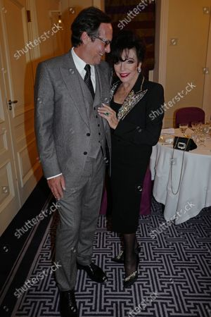 Percy Gibson and Dame Joan Collins
