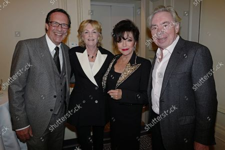 Percy Gibson, Lady Lloyd Webber, Dame Joan Collins and Andrew Lloyd Webber