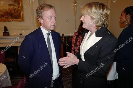 Geordie Greig and Lady Lloyd Webber