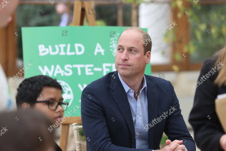 Prince William visits Kew Gardens to take part in a Generation Earthshot event with children from The Heathlands School, Hounslow to generate big, bold ideas to repair the planet and to help spark a lasting enthusiasm for the natural world