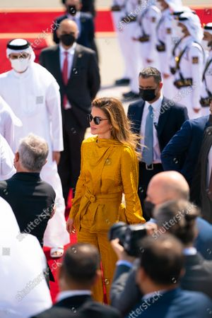 Stock Image of Her Majesty, Queen Rania Al Abdullah's visit to Qatar