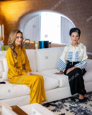 Editorial photo of King Abdullah II and Queen Rania Al Abdullah visit to Qatar - 14 Oct 2021