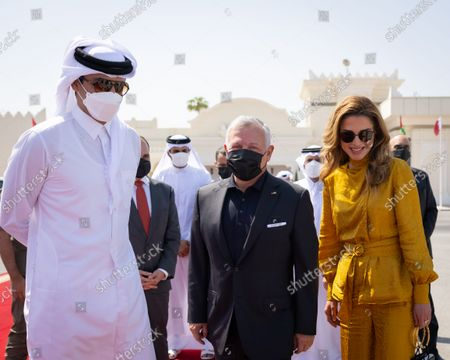 Editorial picture of King Abdullah II and Queen Rania Al Abdullah visit to Qatar - 14 Oct 2021