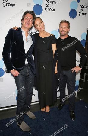 Adam Glassman, Uma Thurman and Jeffrey Mortensen