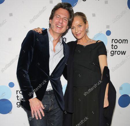 Adam Glassman and Uma Thurman