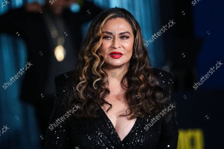 Stock Photo of Businesswoman Tina Knowles Lawson arrives at the Los Angeles Premiere Of Netflix's 'The Harder They Fall' held at the Shrine Auditorium and Expo Hall on October 13, 2021 in Los Angeles, California, United States.