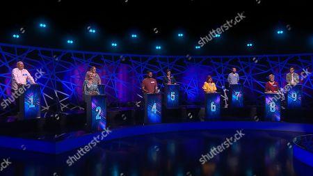 Stock Photo of Contestants Noe, Daniel, Mandy, Kev, Sheri, Ganesh, Jeff, Laura and Leathy