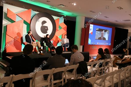 Editorial photo of How to Grow Your Brand with Hispanic Fans and the World's Most Beautiful Game, Advertising Week New York 2021, The Creative Showcase Stage,  Hudson Yards, New York, USA - 18 Oct 2021