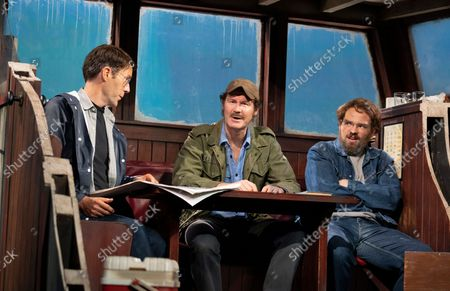 Editorial picture of The Shark is Broken. Play performed at the Ambassadors Theatre, London, UK - 14 Oct 2021