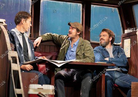 Stock Photo of Demetri Gotirsas as Roy Schneider,    Ian Shaw as Robert Shaw, Liam Murray Scott as Richard Dreyfuss,