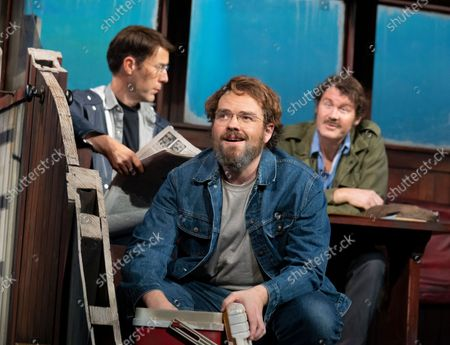 Stock Picture of Demetri Gotirsas as Roy Schneider,   Liam Murray Scott as Richard Dreyfuss, Ian Shaw as Robert Shaw