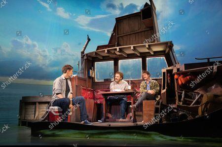 Demetri Gotirsas as Roy Schneider, Liam Murray Scott as Richard Dreyfuss, Ian Shaw as Robert Shaw