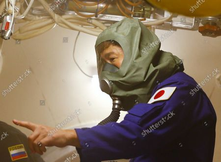 Space flight participant Yusaku Maezawa attends a training ahead of the expedition to the International Space Station, in Star City, Russia, 14 October 2021. Japanese entrepreneur Yusaku Maezawa and his production assistant Yozo Hirano, led by Roscosmos cosmonaut Alexander Misurkin, will take part in a mission to the International Space Station (ISS) scheduled for 08 December 2021.