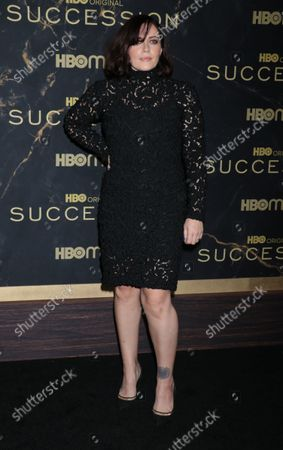 """Stock Photo of Dagmara Dominczyk attend HBO's """"Succession"""" Season 3 Premiere at the American Museum of Natural History in New York"""