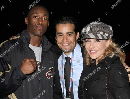 Stock Image of Russell Lamour, Rich Orosco and Julie Benz