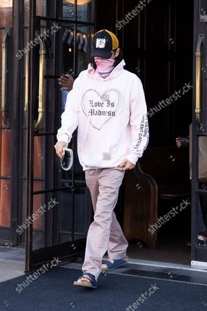 Editorial picture of Jared Leto leaving a hotel, New York, USA - 14 Oct 2021