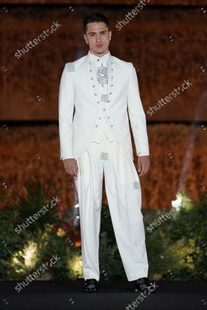 Stock Image of Barcelona Bridal Fashion Week, Show and catwalk Carlo Pignatelli