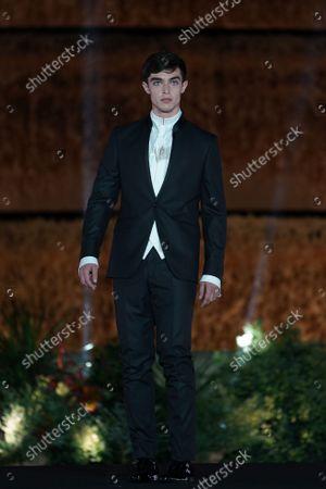 Stock Picture of Barcelona Bridal Fashion Week, Show and catwalk Carlo Pignatelli for Pronovias
