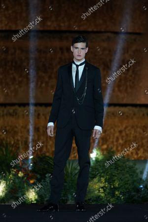 Editorial photo of Barcelona Bridal Fashion Week, Spain - 14 Oct 2021