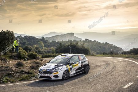 Stock Picture of 53 Virves Robert (est), Pruul Sander (est), Ford Fiesta Rally4, action