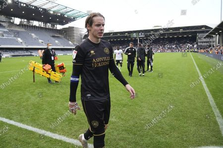 Former Fulham player Stefan Johansen of QPR walks off the pitch at full-time