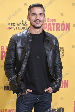 Juan Carlos Librado attends the 'El buen patron' movie premiere at Callao cinema in Madrid, Spain
