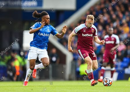 Editorial picture of Everton v West Ham United, Premier League, Football, Goodison Park, Liverpool, UK - 17 Oct 2021