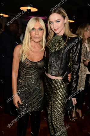 Donatella Versace and Kathryn Newton