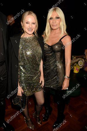 Kylie Minogue and Donatella Versace