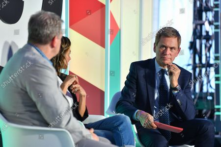 Editorial photo of NYC's Great Minds and Unicorns, in Discussion with Pat Kiernan, Advertising Week New York 2021, Great Minds Stage presented by Roundel,  Hudson Yards, New York, USA - 19 Oct 2021