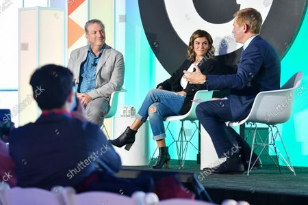 Editorial image of NYC's Great Minds and Unicorns, in Discussion with Pat Kiernan, Advertising Week New York 2021, Great Minds Stage presented by Roundel,  Hudson Yards, New York, USA - 19 Oct 2021