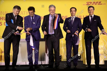 Editorial photo of DHL Express's new platform (HUB) inauguration in Paris-Charles de Gaulle, Paris, France - 05 Oct 2021