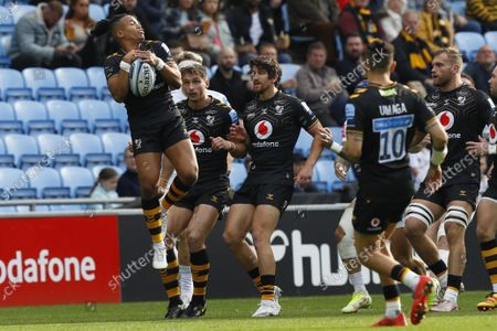 Editorial image of Wasps RFC v Exeter Chiefs, Premiership Rugby match, Ricoh Arena, Coventry, UK - 16 Oct 2021