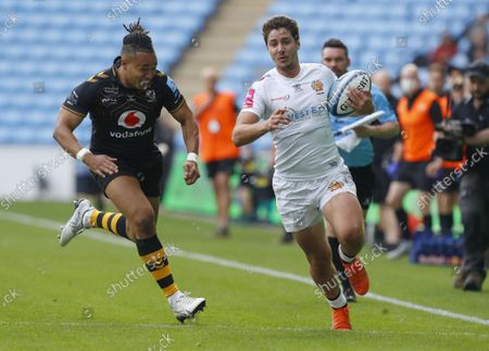 Editorial photo of Wasps RFC v Exeter Chiefs, Premiership Rugby match, Ricoh Arena, Coventry, UK - 16 Oct 2021