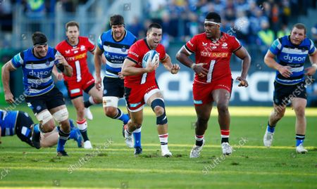 Sean Maitland of the Saracens during the Gallagher Premiership Rugby Match between Bath Rugby and Saracens at the Recreation Ground on 17 Oct. Photo: Steve Haag/PPAUK