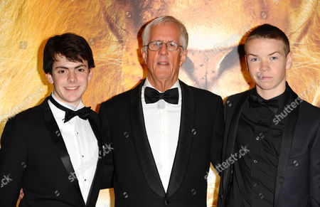 Skandar Keynes, Michael Apted and Will Poulter