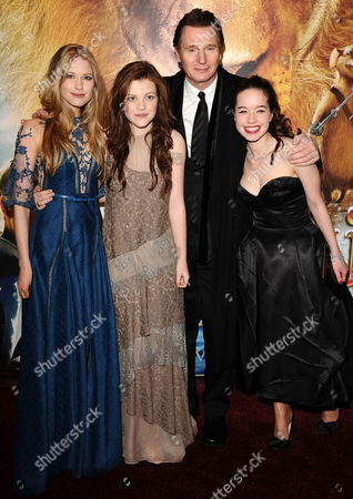 Laura Brent, Anna Popplewell, Georgie Henley and Liam Neeson