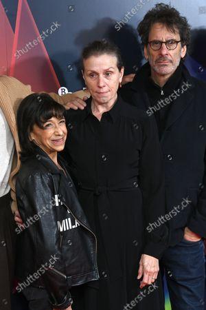 Stock Image of Kathryn Hunter, Frances McDormand and Joel Coen