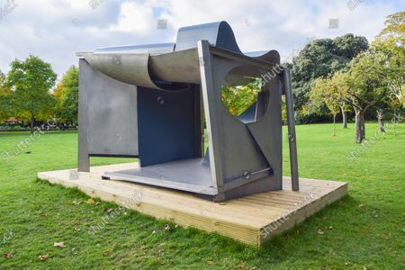 The sculpture 'Palanquin' by Anthony Caro is seen in Regent's Park, part of the Frieze Sculpture outdoor exhibition.