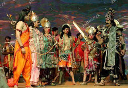 Editorial image of Dussehra Hindu festival in New Delhi, India - 15 Oct 2021