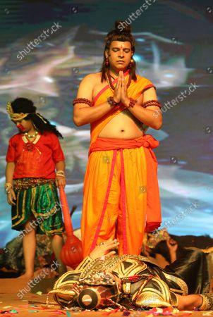 Editorial picture of Dussehra Hindu festival in New Delhi, India - 15 Oct 2021